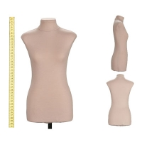 Mannequin female soft tailor of Betty, 44 size, scale 1/2, beige