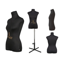 Mannequin female soft tailor by Christina, size 42, black, with stand